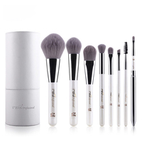 Professional Cosmetics Set 8pcs Travel Makeup Brushes High Quality Synthetic Hair Natural Wood Handle With White