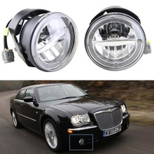 1 Para 10 Watt 12 V Führte Nebellicht mit DRL Halo Angel eyes für Chrysler 300 C SRT8 Limousine 4-tür 2005 6000 Karat weiß mit E4 genehmigt