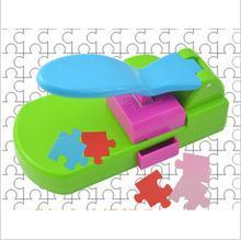 פאזל יצרנית צעצועים בעבודת יד, להפוך את חידות בעצמך, מלאכת אגרוף/diy כלים שימושי. אגרופן. פאזל
