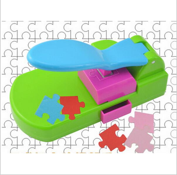 puzzle maker handcrafted toys, make the puzzles by yourself, craft punch / diy tools handy . puncher .puzzle