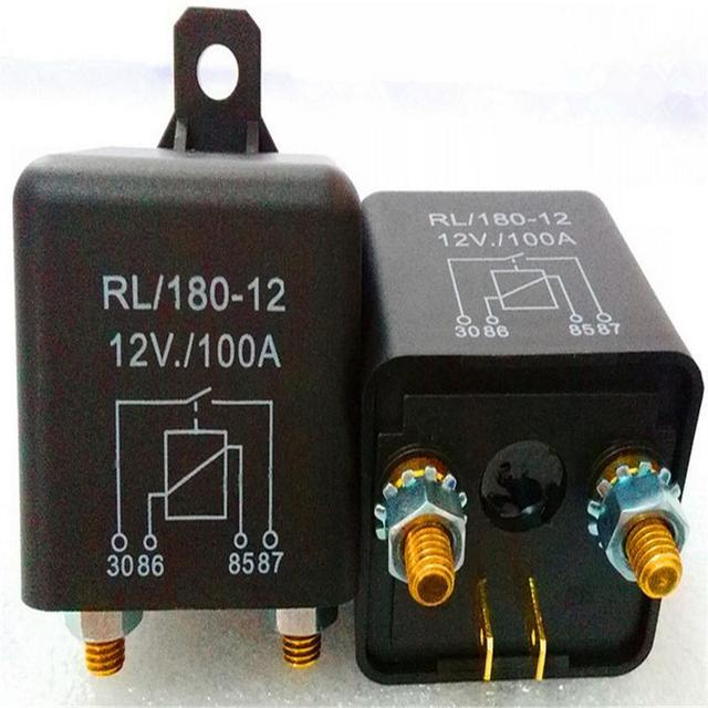 1 Piece Waterproof Car Relay 12v 100a Long Life Black Red Copper - Automotive Relay Normally Open