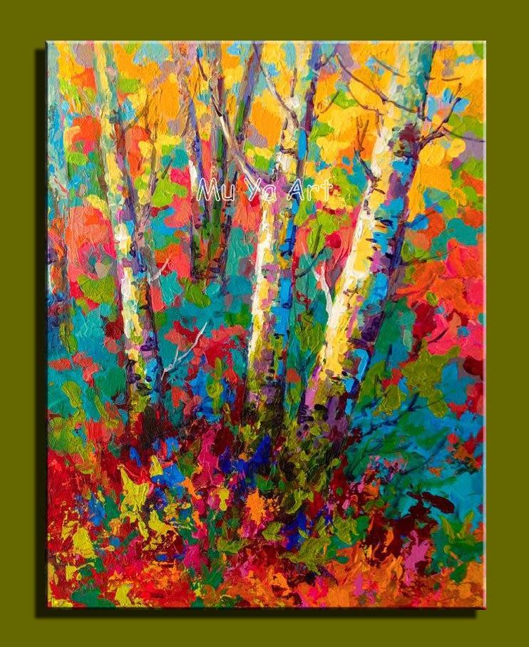 Famous artist deco handmade colorful canvas artwork
