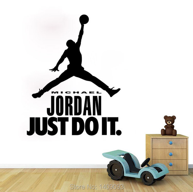 Basketball Wall Sticker Michael Jordan Just Do It Wall Quotes For Boys  Bedroom Decoration DIY Vinyl Part 63