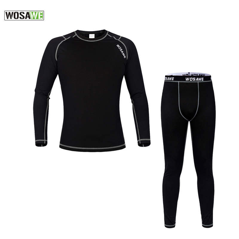 WOSAWE 2017 Winter Men Women Thermal Cycling Base Layer Compression Mountain Bike Warmer Underwear Long Sleeve Cycling Jersey