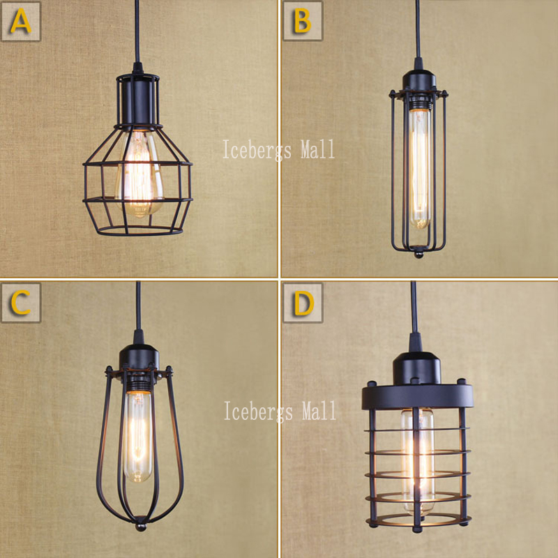 Vintage Pendant Lights E27 Industrial Retro Edison Lamps: Loft Vintage Industrial Retro Pendant Lamp Edison Light