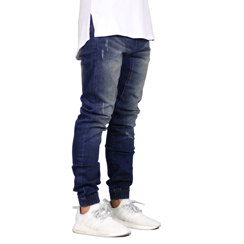 ea5b22bae96fc0 Fashion Stretch Men Jeans Denim Jogger Design Hip Hop Joggers For Men  Y5036-in Jeans from Men's Clothing