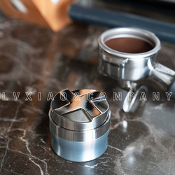 watchget Coffee Distribution Tool 58mm /Leveler Tool Stainless Steel Coffee Espresso Powder Bean Tamper