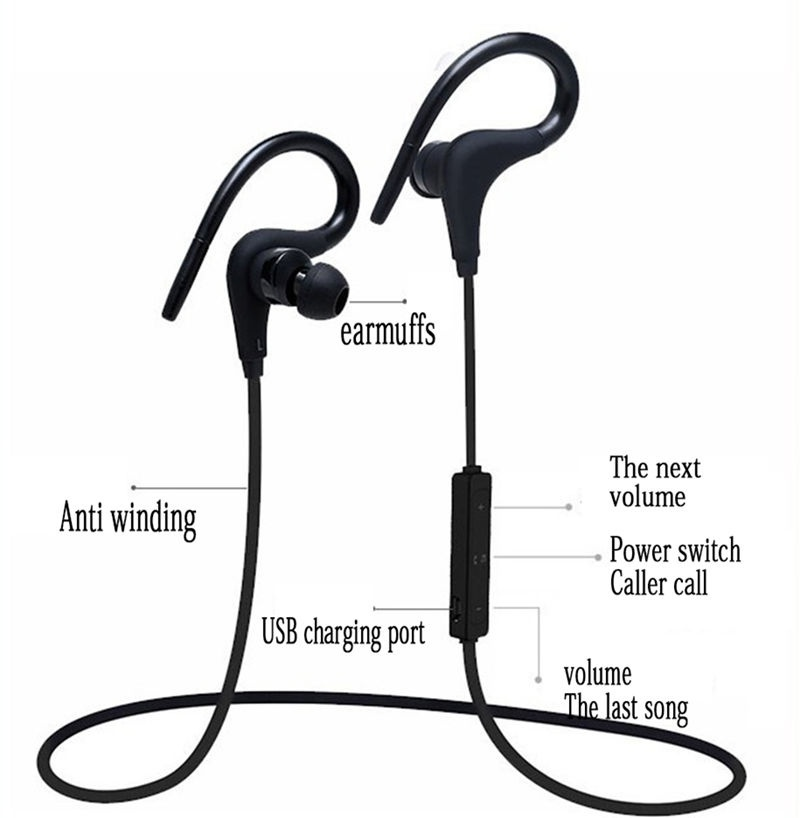 Stereo Bass Headset Earbuds With Mic For Xiaomi Samsung Bluetooth Earphones Sports Sweatproof Earpiece Wireless Headphones Bluetooth Earphones Headphones Aliexpress