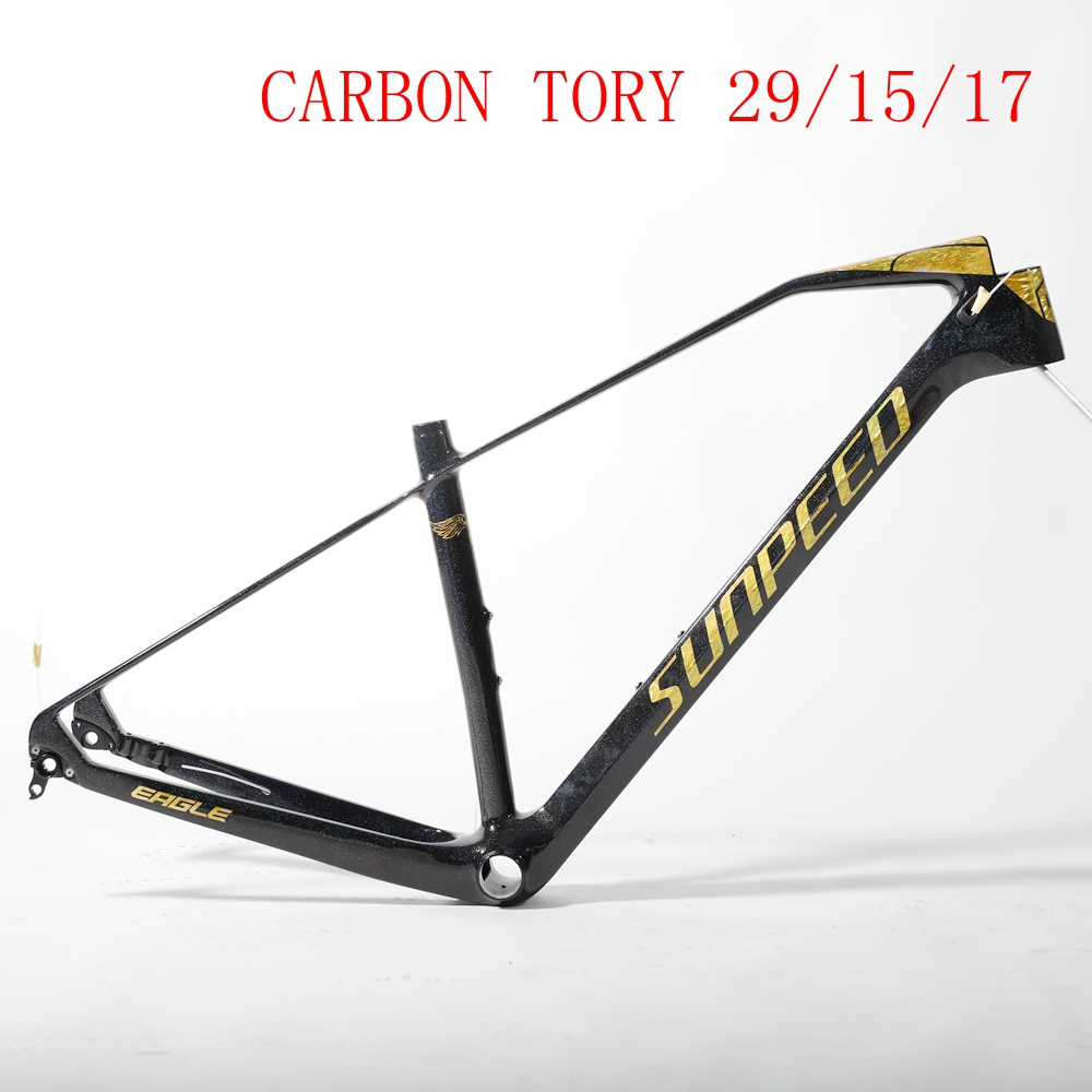 Spor ve Eğlence'ten Bisiklet kadrosu'de Sunpeed takılıyor Podyum Karbon XC yarışçı karbon dağ çerçeve 29 title=