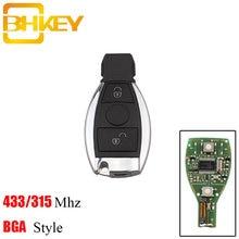 Bhkey 2 кнопки умный пульт дистанционного ключа брелок 433/315