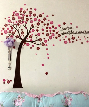 PUTIH dan TONGKAT Removable Wall Sticker Vinyl Mural Decal Art Jepang - Dekorasi rumah - Foto 4