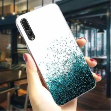 Yellow Gold Glitter Phone Cover For Huawei Honor 10 Lite Case 6A 7A Pro 7X 7C 8C/8 9 Lite Play Y6/Y6 Y7 Prime Y9 Nova 3/3i/4(China)