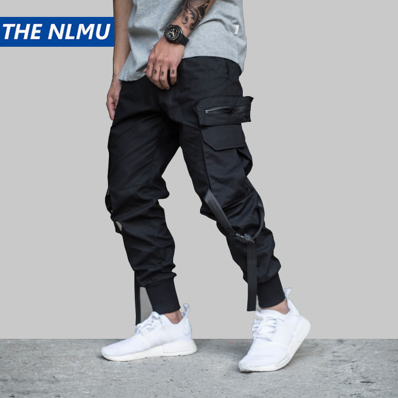 Hip Hip Streetwear Men's Black Cargo Joggers Pants 2019 Men Military Style Casual Camouflage Pants Trousers Harem Pant WJ221
