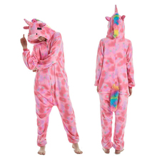 Winter Animal Stitch Sleepwear Unicorn Pajamas onesie Sets kigurumi Unicornio Women Men Unisex Adult Flannel onesies for adults