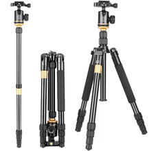 Q999S kaamerastatiivile aluminum digital camera tripod better than Q666 Q999 fit for camcorder folded 360mm цена