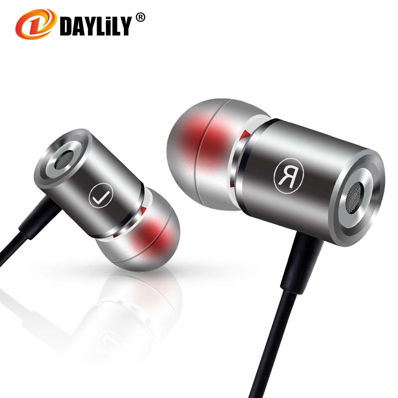 Daylily D0 headphones wired fone de ouvido music earphone  auriculares phone headset bass Earphones Metal microphone headset pc цены онлайн