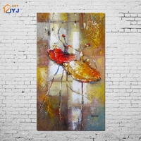 Warm Color Thick Dancer Picture Wall Art Home Decoration Hand painted Modern Abstract Oil Painting on Canvas Gift Unframed SL161