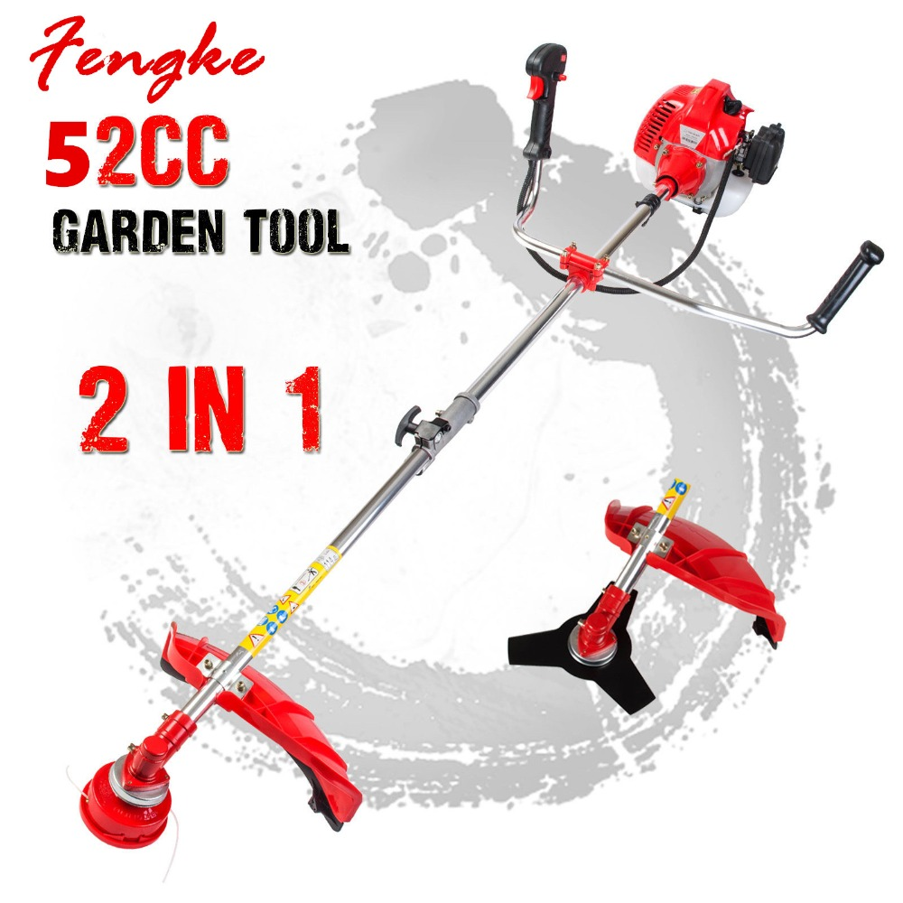 New High Quality Petrol Brush Cutter Grass Cutter 5 In1 With 52cc Petrol Engine Multi Brush Strimmer Hedge Trimmer Tree Cutter Garden Power Tools Grass Trimmer