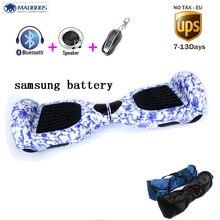Elektrischen balance hoverboard mit UL 2272 Samsung batterie 6,5 zoll intelligente selbstabgleich elektroroller drift skateboard einrad