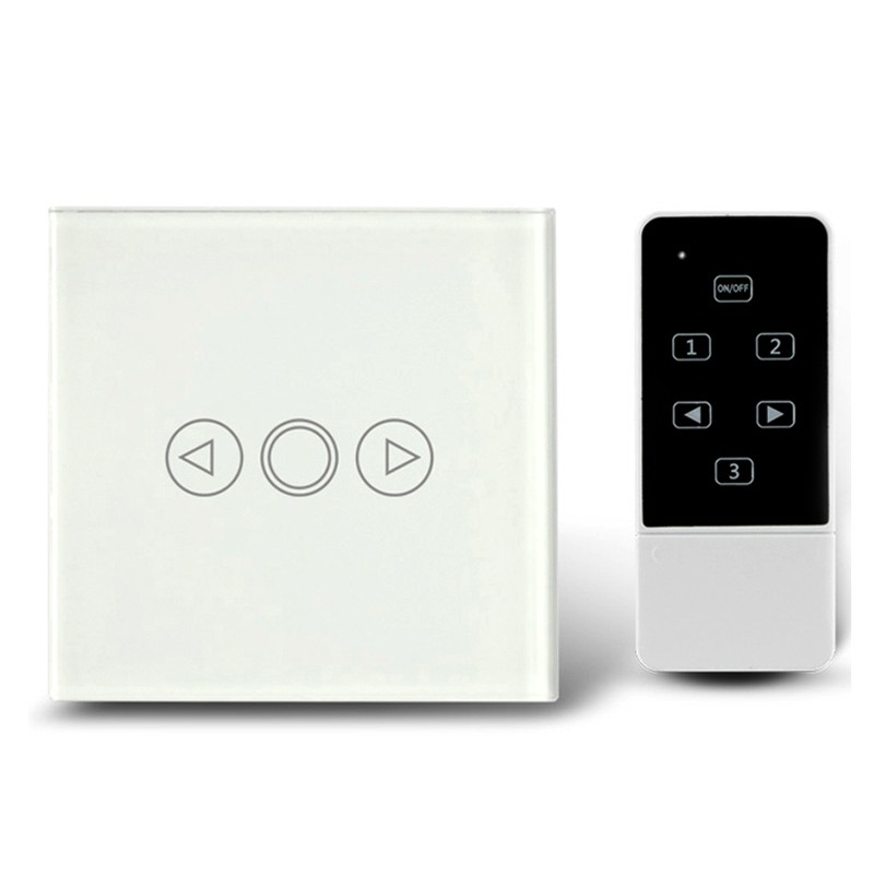 5 Hot Selling EU Standard LED Dimmer Touch Switch,Crystal Tempered Glass Panel Wall Switch with LED indicator ,AC110-240V