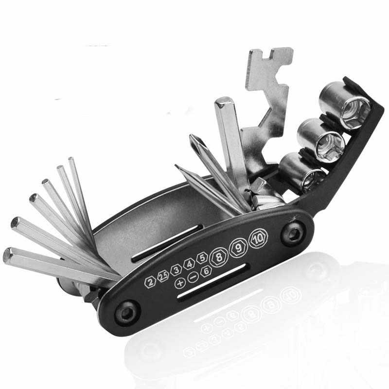 Многофункциональный набор инструментов для велосипеда дорожный MTB горный велосипед 16 в 1 универсальный набор инструментов велосипедные комплекты для ремонта шин инструмент для велоспорта Мультитул Новый