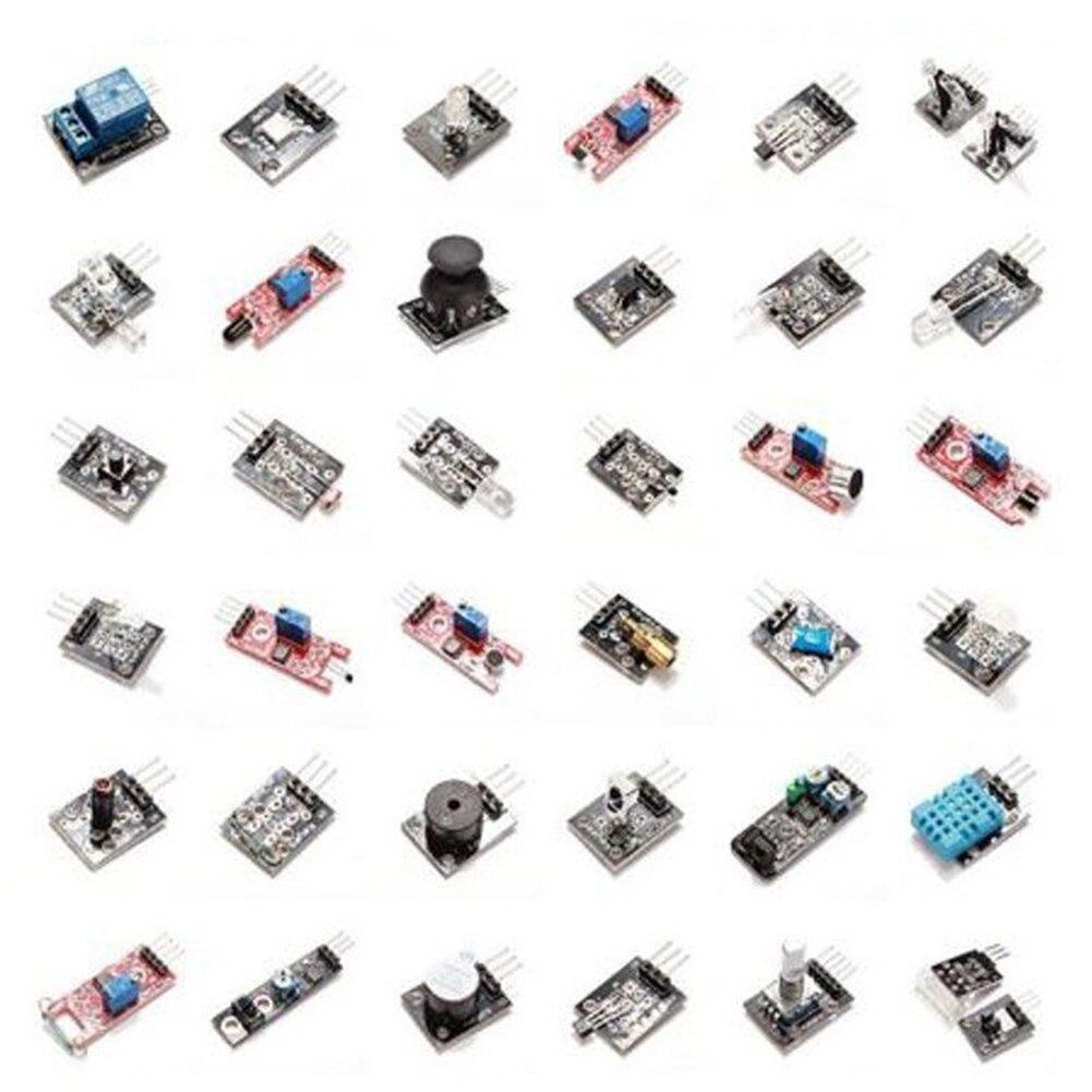 37 Sensors Assortment Kit 37 In 1 Sensor Module Starter Kit Mcu Educ,inclue 2-color Led Module Tilt Switch Module Home Improvement