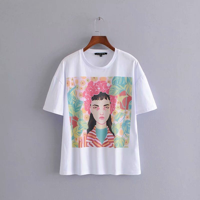 Popular new The European and American fashion printing T-shirt HH38-1840