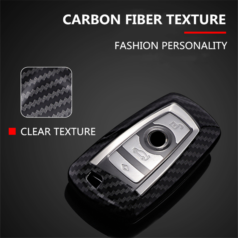 Image 5 - Car Styling Carbon Fiber+PC Key Cover Shell Case For Bmw New1 3 4 5 6 7Series F10 F20 F30 Smart 3/4 Buttons Accessories Keychain-in Key Case for Car from Automobiles & Motorcycles