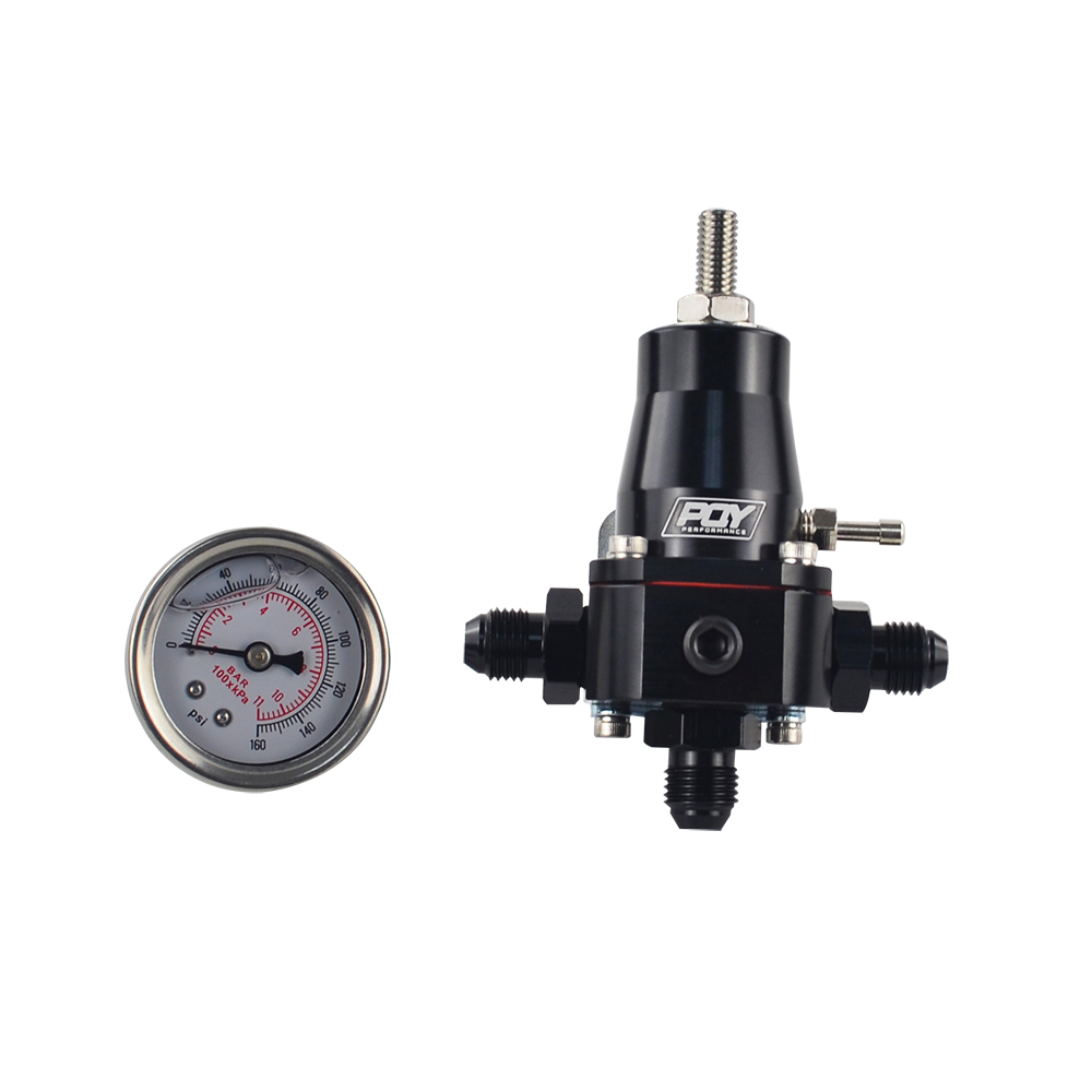 1x Fuel Pressure Regulator 30-70 Psi Adjustable Stainless Steel Mounting Bracket