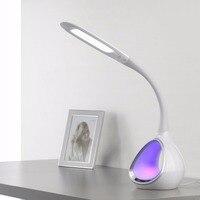 Luxury Fashion LED Desk Lamp Touch Switch Flexible LED Reading Light 5 Level Adjusted Brightness LED