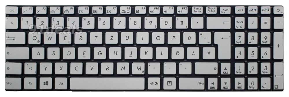 New notebook laptop keyboard for ASUS GL551JW GL551JX ZX50VX Keyboard German Deutsch DE GR QWERTZ Frame new gr laptop keyboard with frame for samsung 355v5c 350v5c 355 v5x german keyboard