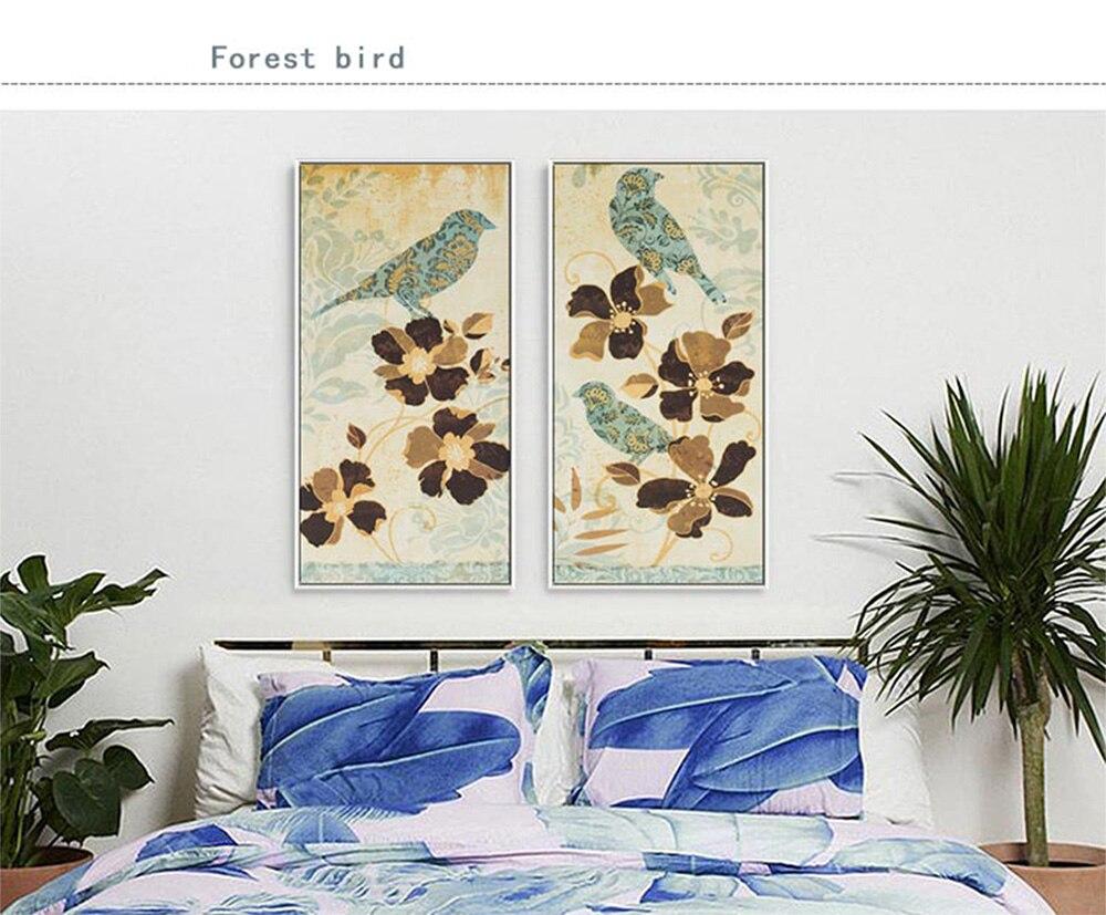 Wangart Lukisan Dinding Cetakan Vintage Burung Dan Bunga Hewan Kanvas Gambar Untuk Ruang Tamu Tanpa Bingkai Dekorasi Rumah Picture For Living Room Canvas Pictureprints Painting Aliexpress