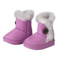 New Hot Children Non Slipping Fur Winter Girls Boy Kids Thicken Warm Shoes Snow Boots
