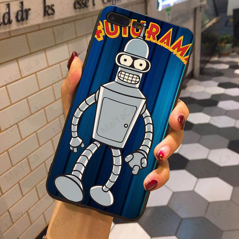 Futurama Bender Colorful Cute Phone Accessories Case for iPhone XS MAX 8 7 6 6S Plus X XS XR 5 5S SE 5C Coque Shell