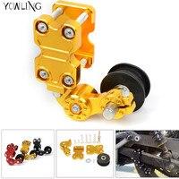motorcycle Aluminum Chain Tensioner Chain adjuster Bolt Roller Adjust FOR suzuki GSX S1000/F/ABS GSX650F GSR600 TL1000S GSX1400