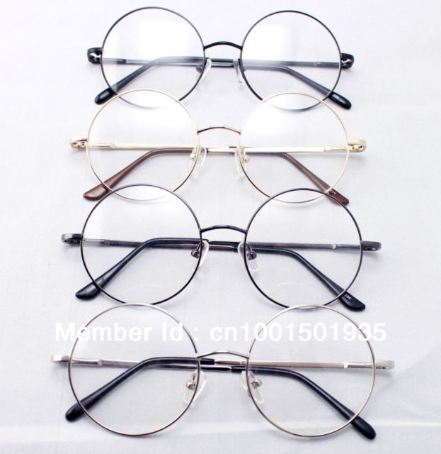 9102beb9d94 46mm Size Oversized Retro Vintage Harry Potter Style Round Eyeglass Frames  Black Gold Silver Gun Grey