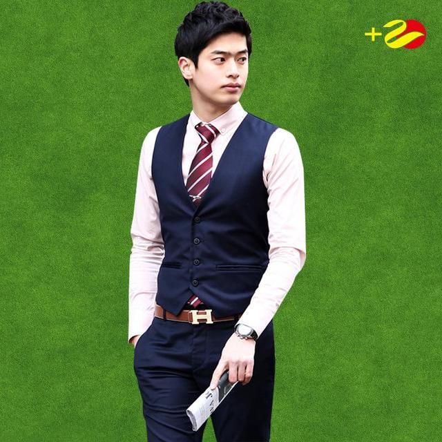 Мужской костюм жилет тонкой жилет черный темно-жилет жилеты chaleco хомбре traje мужские жилеты кнопка жилет формальные