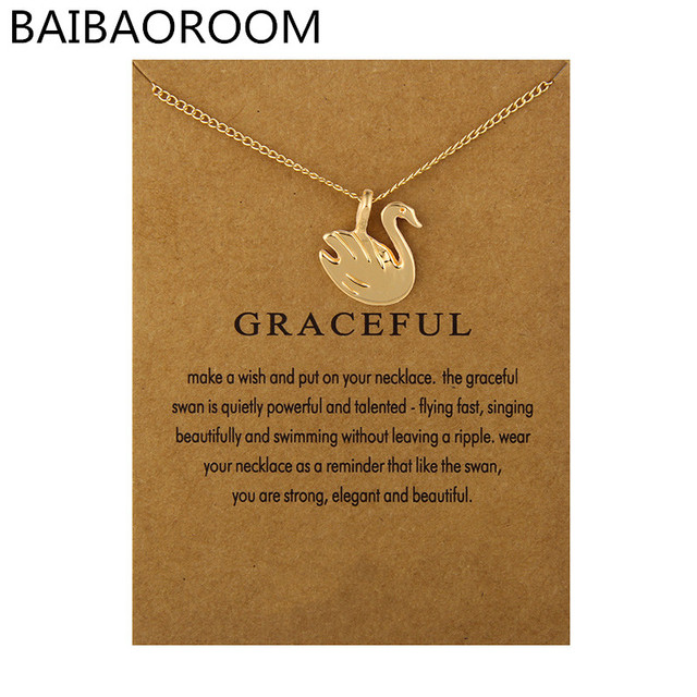Fashion Jewelry Graceful Swan Necklace Pendant For Women