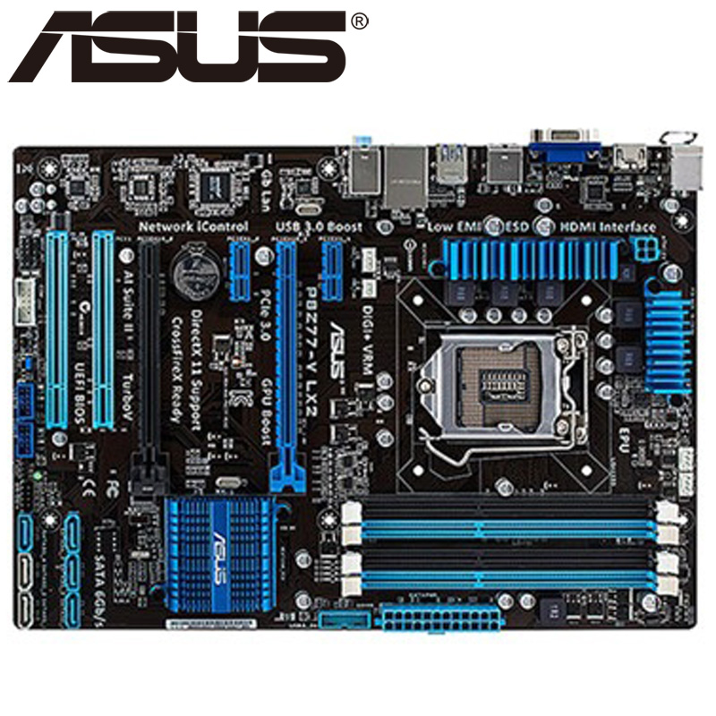 Asus P8Z77-V LX2 Desktop Motherboard Z77 Socket LGA 1155 i3 i5 i7 DDR3 32G ATX UEFI BIOS Original Used Mainboard On Sale asus m5a78l desktop motherboard 760g 780l socket am3 am3 ddr3 16g atx uefi bios original used mainboard on sale