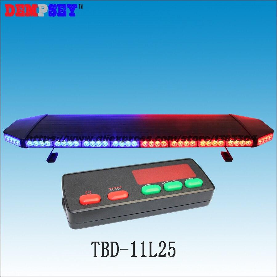 Tbd-11l25 супер яркий 1.2 м красный и синий крыше автомобиля светодиодный световой, controller-2k, аварийного полиции strobe Предупреждение световой, черн…