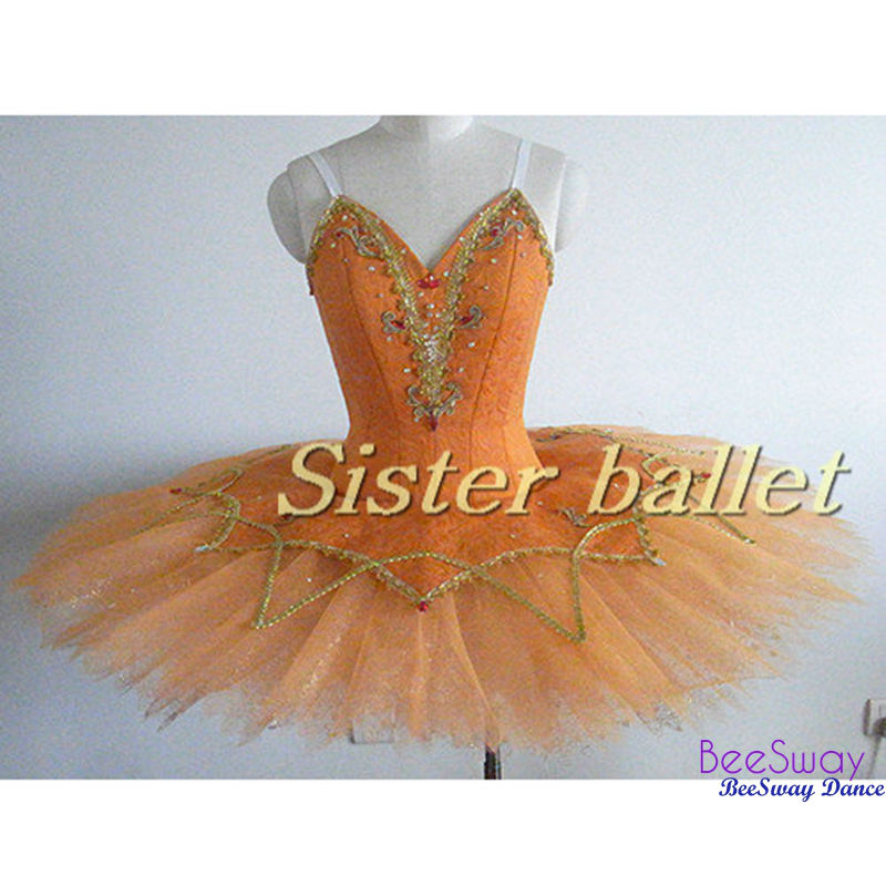 8d9e50707358 Orange Sugar Plum Fairy Professional Ballet Costume Women ...