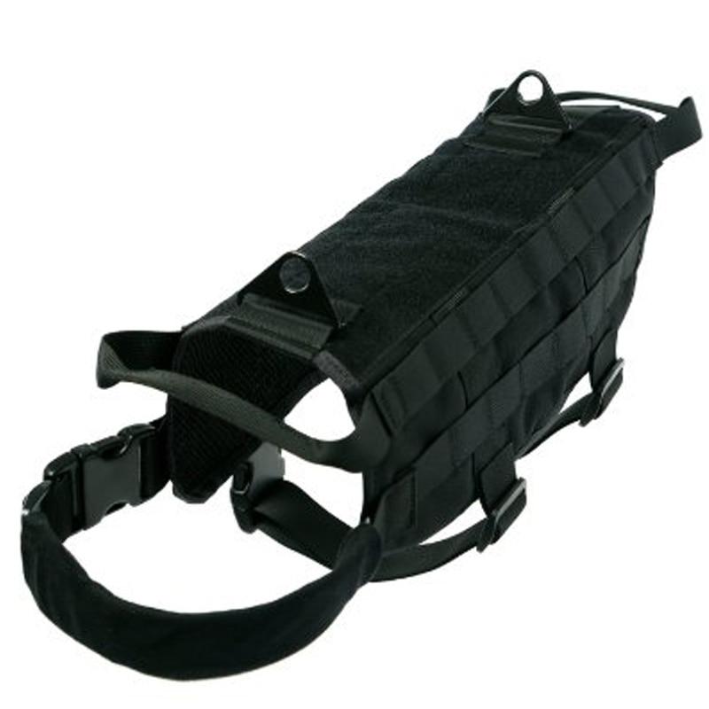 Yisibo Military Tactical Dog Training Vest Police Molle Dog Compact Vest Harness Nylon Adjustable Vest Packs Coat