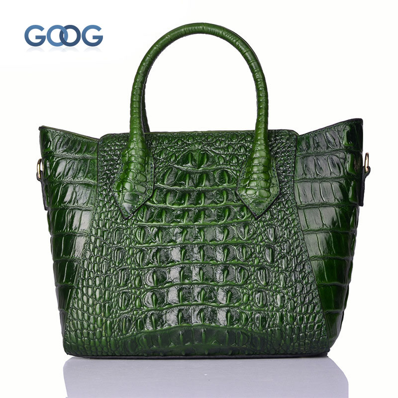 Crocodile pattern new section of the vertical section of the handbag bag female leather shoulder bag European personality wild l qiaobao 2018 new korean version of the first layer of women s leather packet messenger bag female shoulder diagonal cross bag
