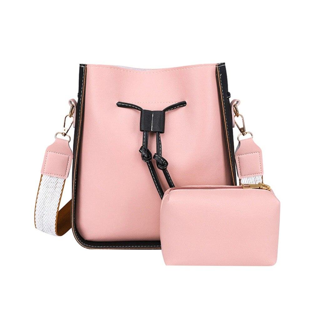 Las mujeres bolsa de mango superior de gran capacidad PU bolso de escuela de chicas bolso de hombro libros paquetes de bolso de cuero bandolera bolsa Mujer