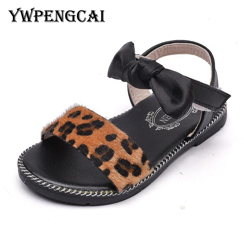 Size 21 36 Summer Girls Leopard Shoes Baby Toddler Girl ...
