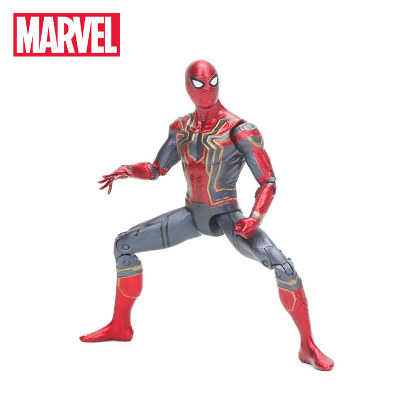 2018 17cm Marvel Toys Avengers Infinite War Spiderman PVC Action Figure Superhero Figures Spider-man Collectible Model Dolls Toy button