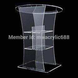 الشحن مجانا شفافة الحديثة تصميم رخيصة واضح الاكريليك منبر