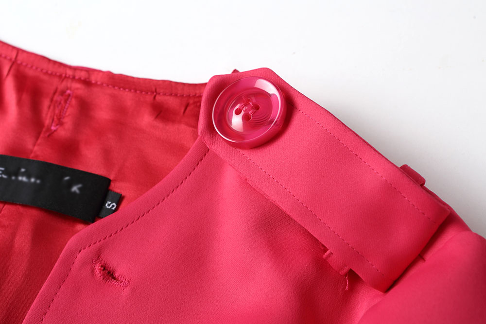 Boutonnage À 2018 Mince red Mode Trench rose Double Tranchée De Long Manteau Style Blue Marque vent Nouvelle Red Avec Coupe Automne Femmes Angleterre B1161 ZqxrOaZw