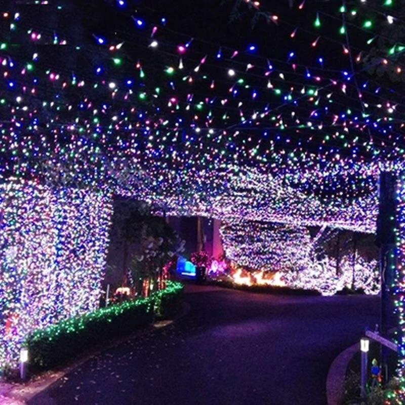 comprar m led string de hadas luces de navidad navidad garland partido decoracin de la boda colorida warmwhite blanco de light bulb