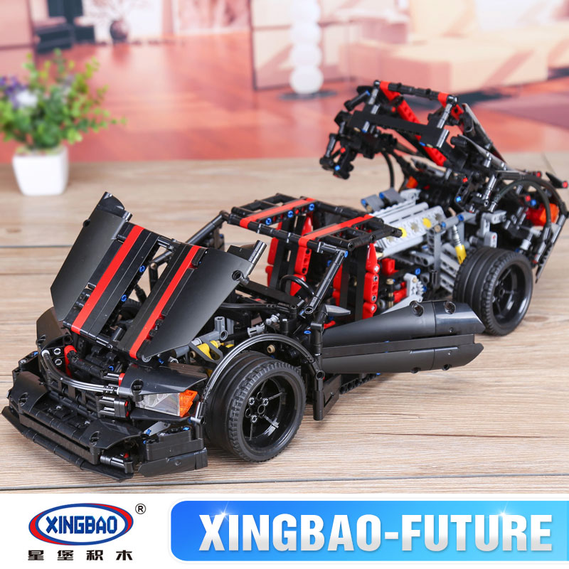 XingBao 07003 1916Pcs Creative MOC Technic Series The 2015 Assassin X19 Set Educational Building Blocks Bricks Toys Model Gifts xingbao 01001 creative chinese style the chinese silk and satin store 2787pcs set educational building blocks bricks toys model